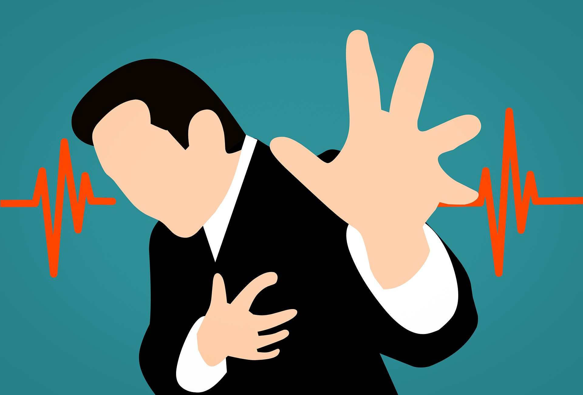 heart attack from surprise application of an indemnity